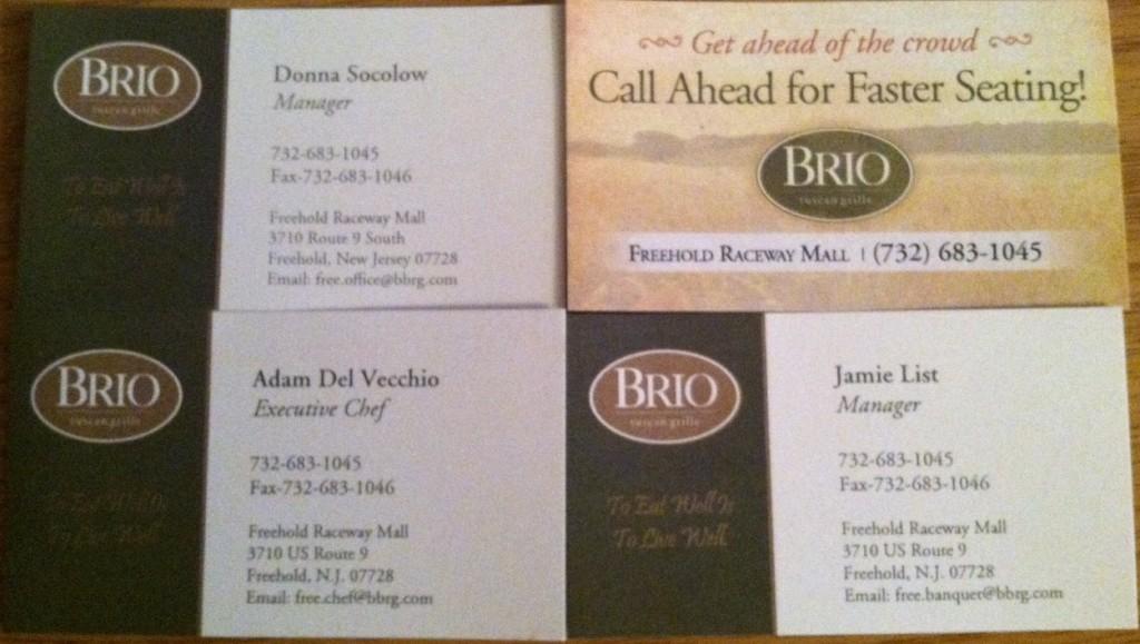 Brio Tuscan Grille NJ
