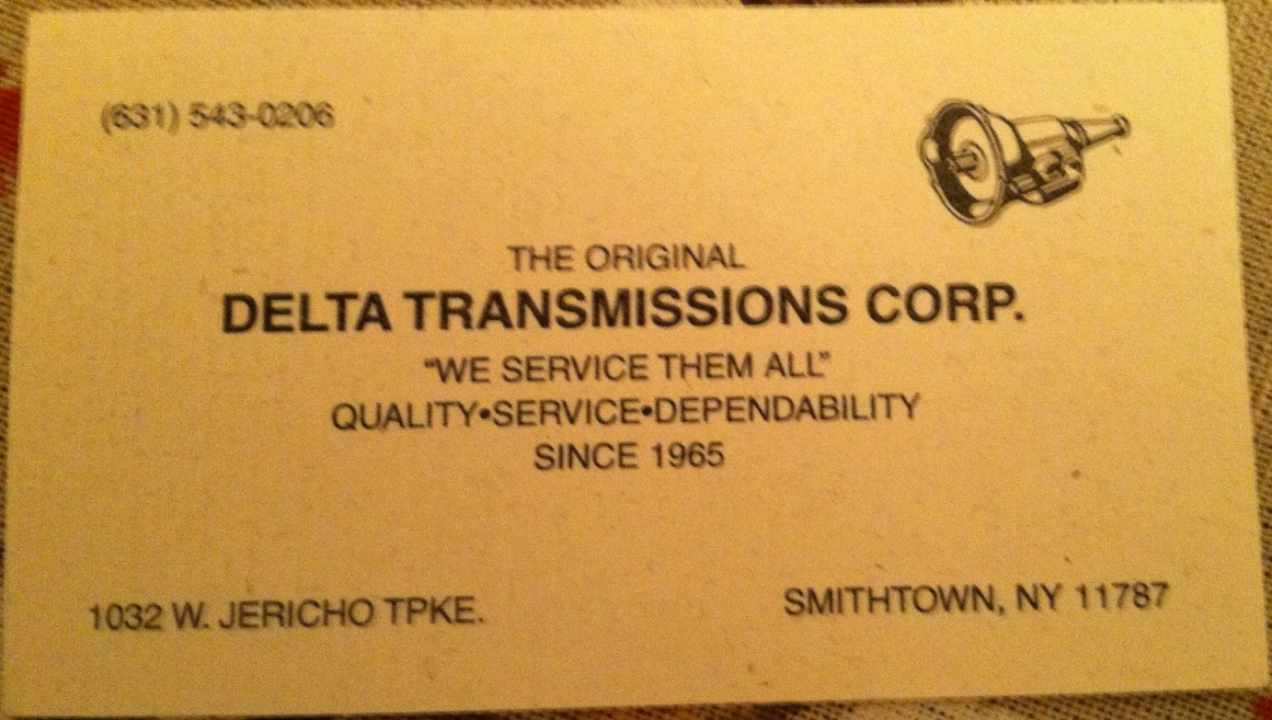 Business Cards South Africa | Delta Transmissions Corporation