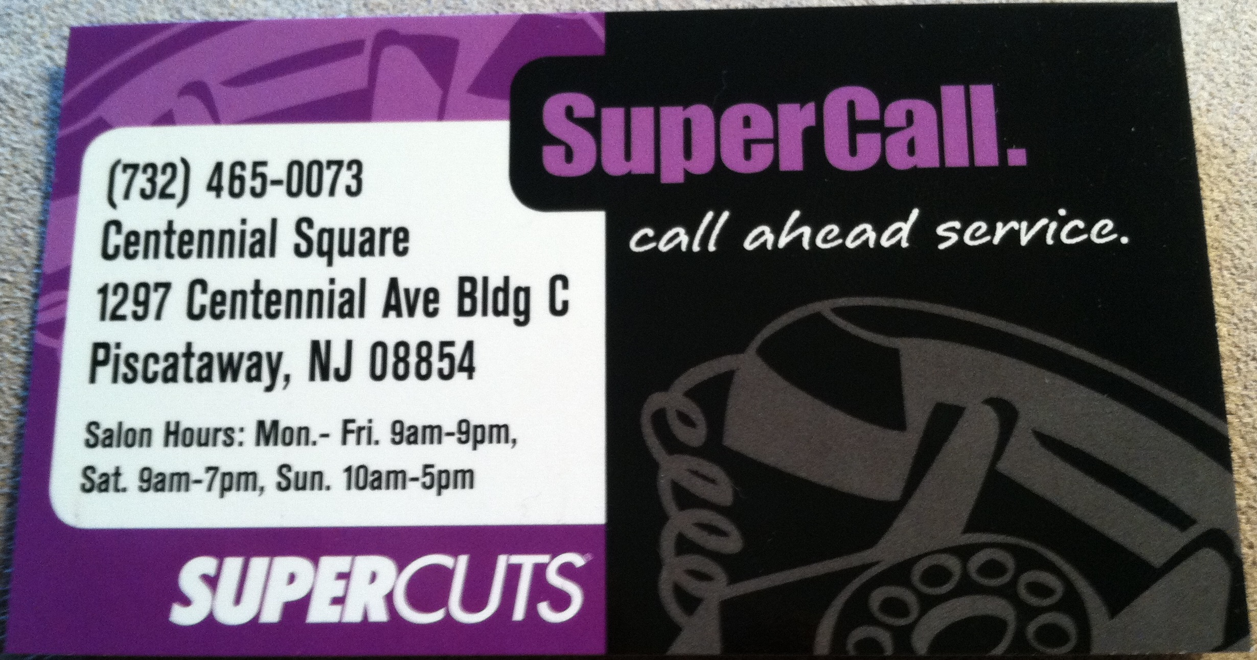 Business card from supercuts piscataway nj business card collector supercuts nj winobraniefo Choice Image