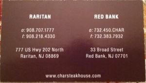 Char Steakhouse Raritan NJ