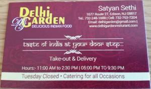 Delhi Garden Edison NJ