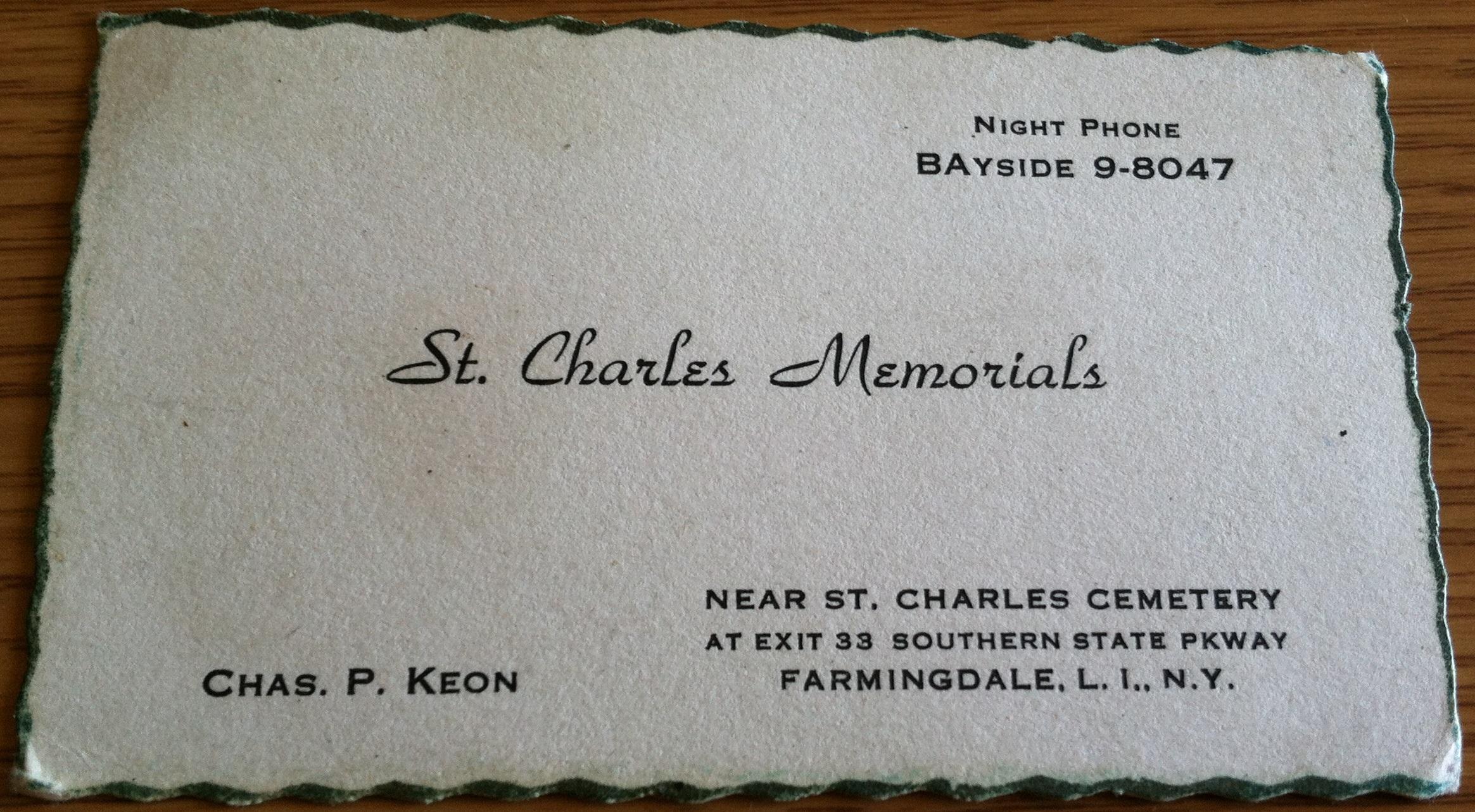 St Charles Memorials