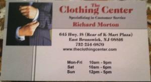 Clothing Center East Brunswick NJ