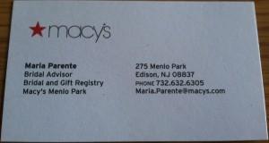 Macys Wedding Registry