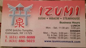 Izumi Commack NY