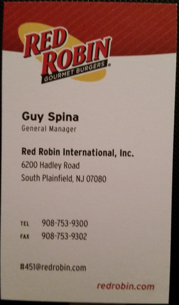 Red Robin South Plainfield NJ