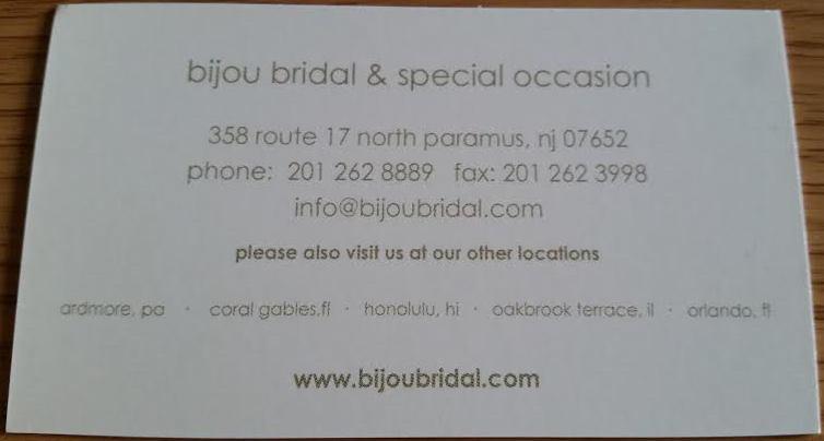 Bijou Bridal Paramus NJ