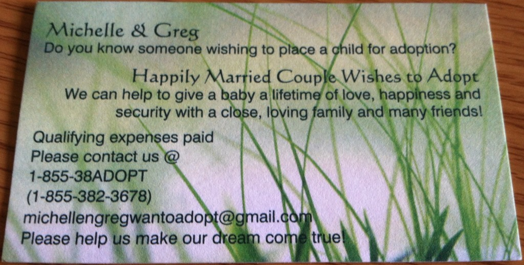 Adoption Business Card
