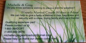 Adoption Business Card