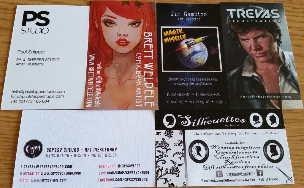 New York Comic Con 2015 Business Cards
