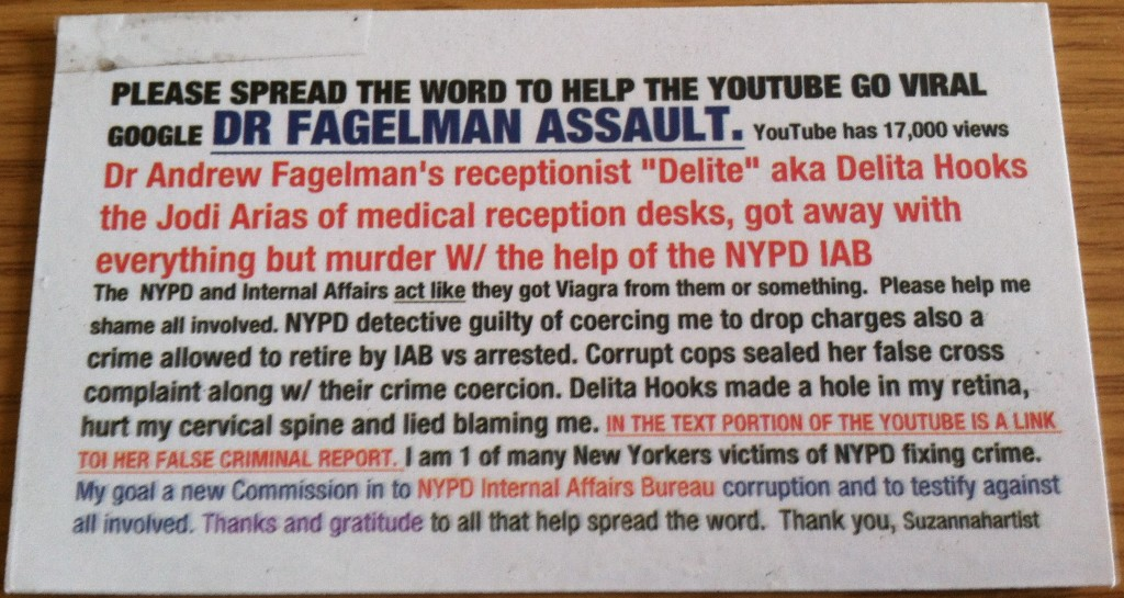 Dr Fagelman Assault
