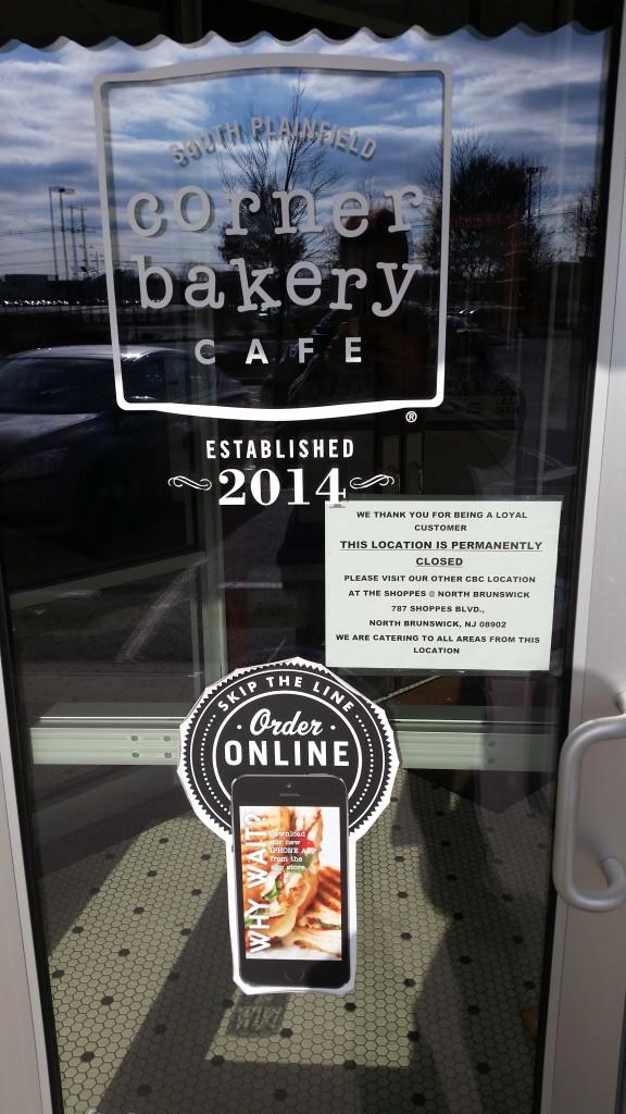 Corner Bakery Cafe Closing
