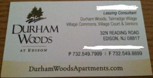 Durham Woods Edison NJ