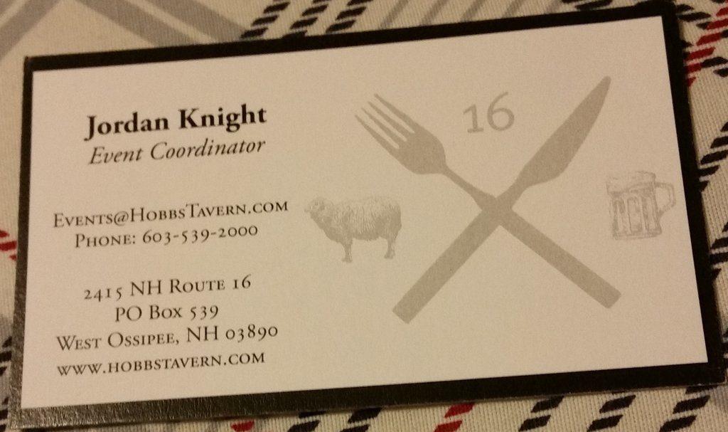 Jordan Knight Hobbs Tavern