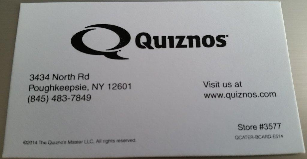 Quiznos Poughkeepsie NY