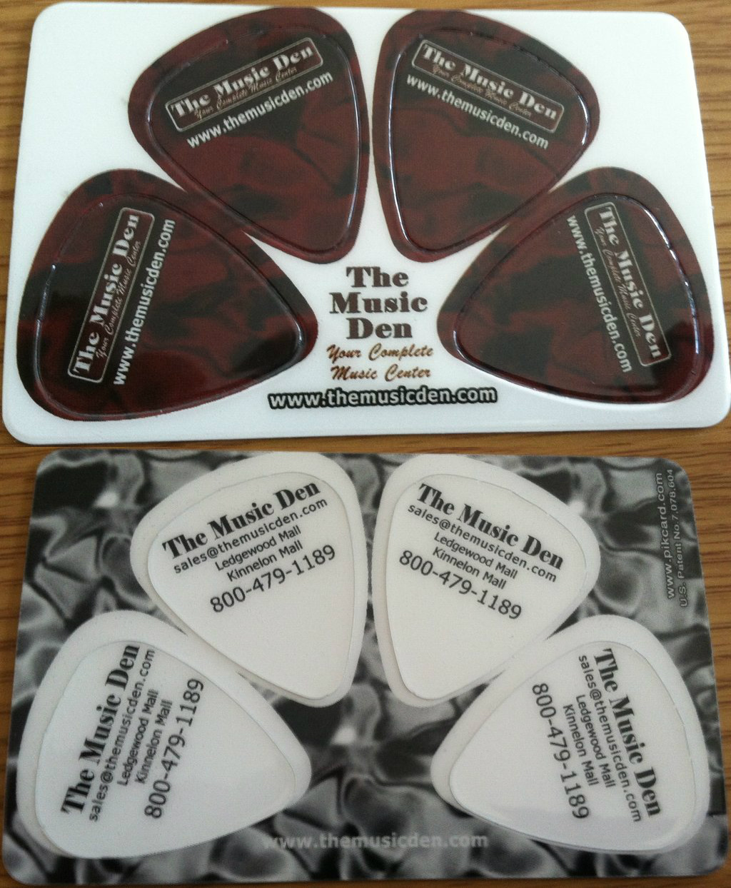 Throwback: The Music Den\'s Awesome Guitar Pick Business Card
