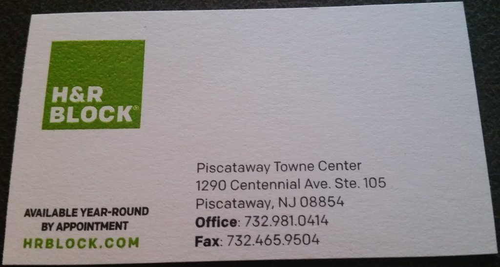 H and R Block Piscataway NJ