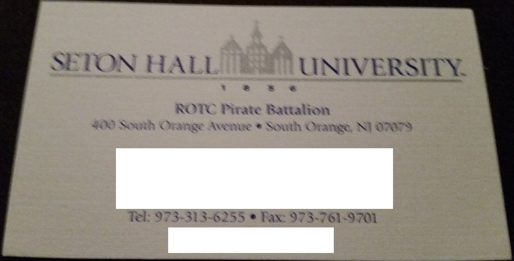 Seton Hall ROTC Pirate Battalion