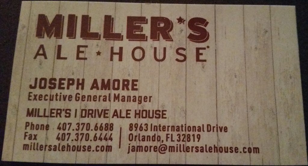 Joseph Amore Millers Ale House