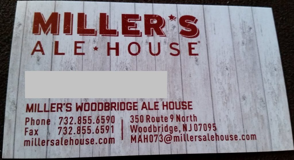 Millers Ale House Woodbridge NJ