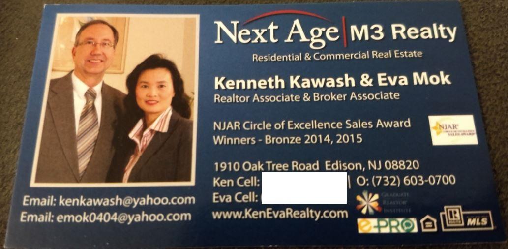 Kenneth Kawash Eva Mok