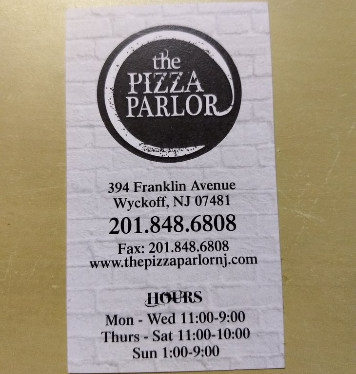 Pizza Parlor Wyckoff NJ