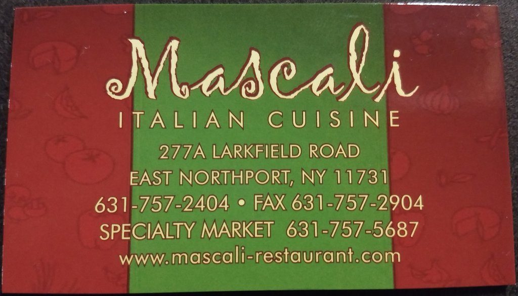 Mascali Restaurant East Northport NY