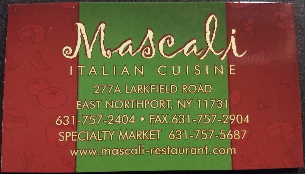 Mascali Restaurant East Northport NY