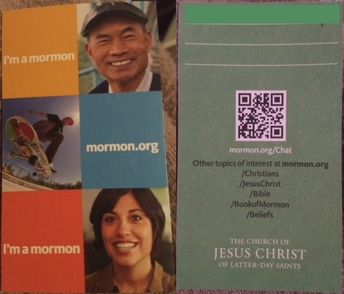 The Mormon Church of Jesus Christ of Latter Day Saints Business Card