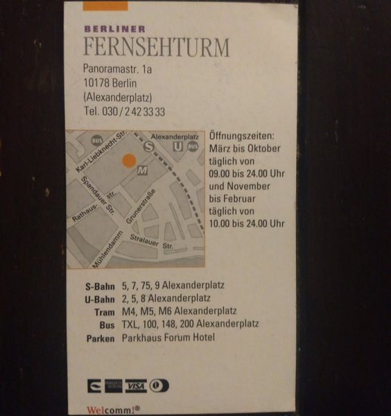 Finding a business card from berlin during my spring cleaning reheart Gallery