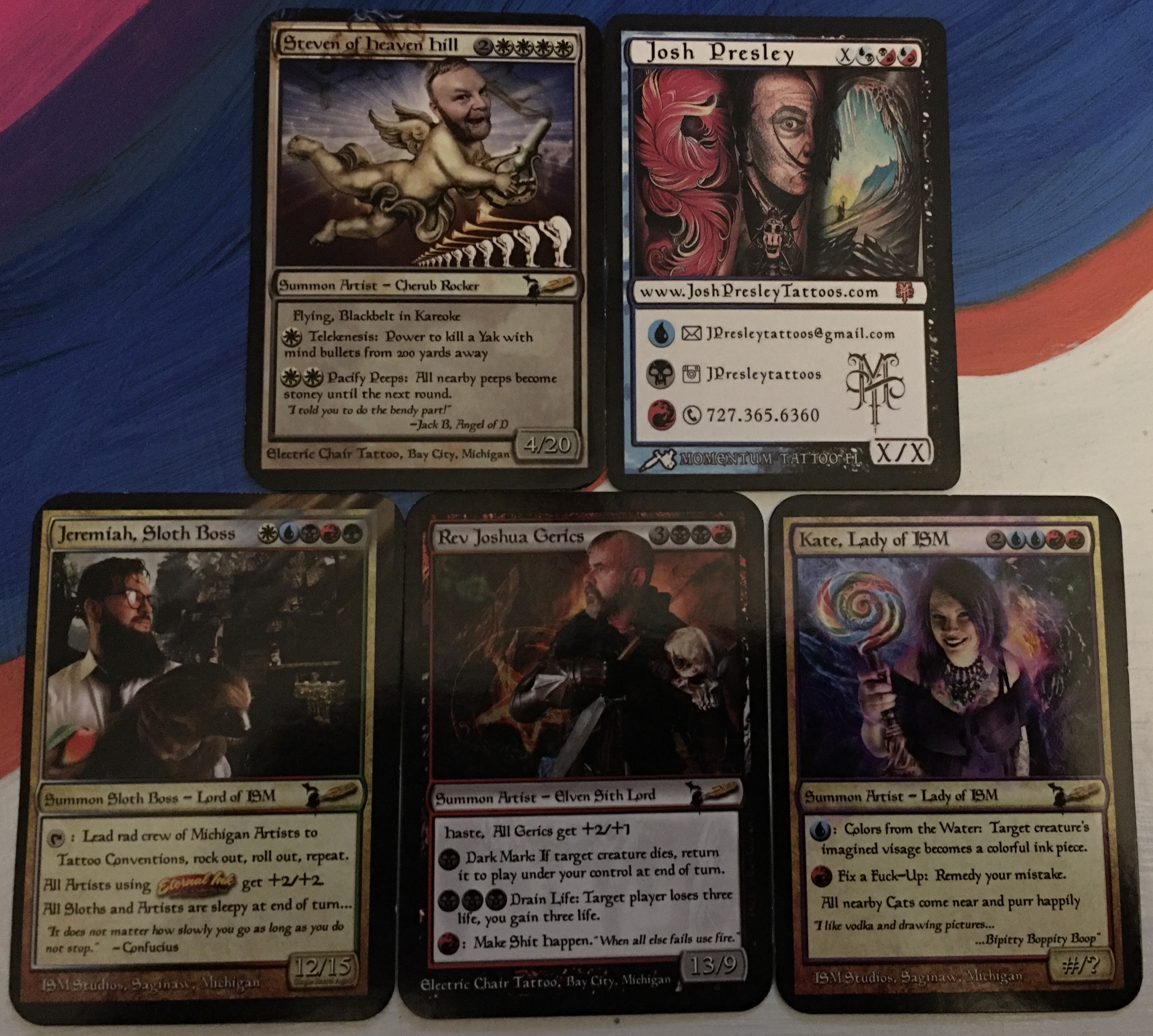 Tattoo Artists With Magic The Gathering Inspired Business Cards